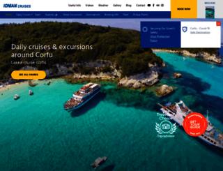 ionian-cruises.com screenshot