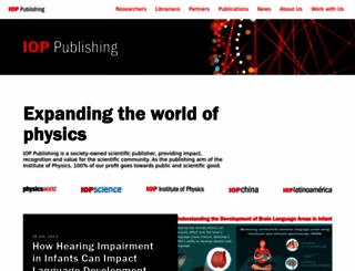 ioppublishing.org screenshot