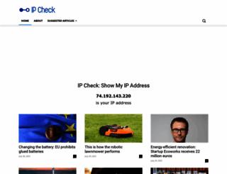 ip-check.info screenshot