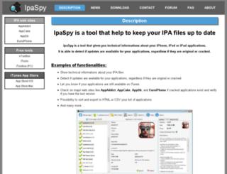 ipaspy.com screenshot