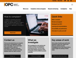 ipcc.gov.uk screenshot