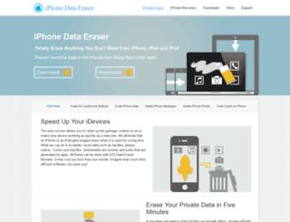 iphone-data-eraser.com screenshot