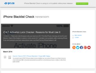 iphoneblacklistcheck.pr.co screenshot