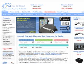 ipodcarkitdirect.co.uk screenshot