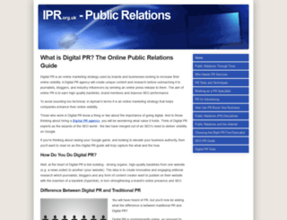 ipr.org.uk screenshot