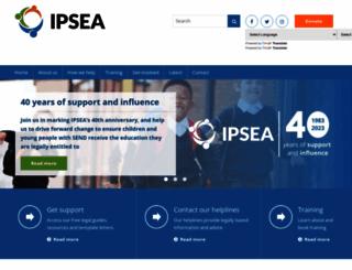 ipsea.org.uk screenshot