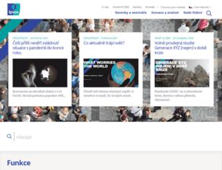 ipsos.cz screenshot