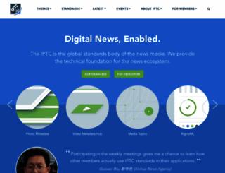 iptc.org screenshot