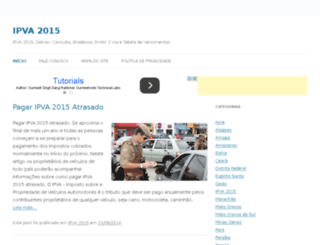 ipva2015detran.com screenshot