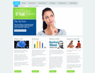 iqtestexperts.com screenshot