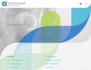 ir.arrowheadresearch.com screenshot