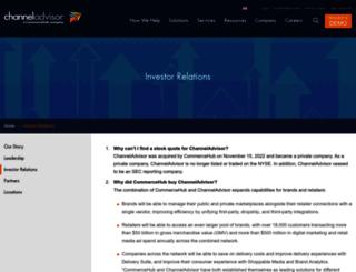 ir.channeladvisor.com screenshot