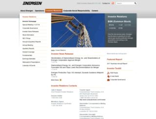 ir.energen.com screenshot