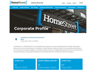 ir.homestreet.com screenshot