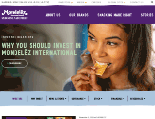 ir.mondelezinternational.com screenshot