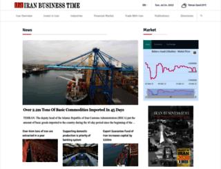 iranbusinesstime.com screenshot