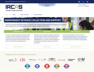 ircas.co.uk screenshot