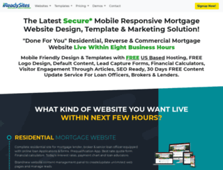 Access Ireadysitescom Mortgage Website Design Mortgage Website - Mortgage website templates