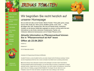 irinas-tomaten.de screenshot