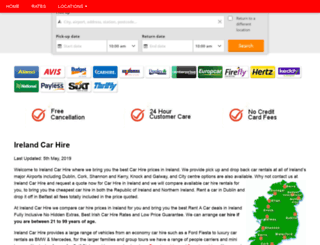 irishcarhire.info screenshot