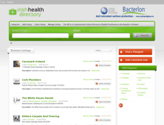 irishhealthdirectory.ie screenshot