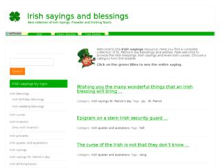 irishsayings.org screenshot