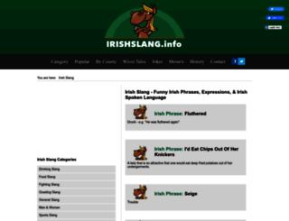 irishslang.info screenshot