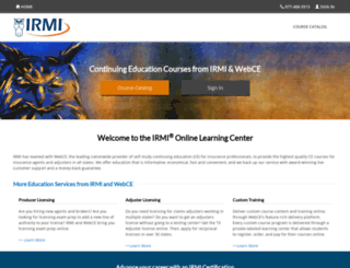 irmi.webce.com screenshot
