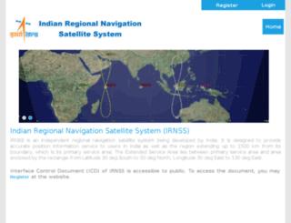 irnss.isro.gov.in screenshot
