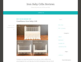 ironbabycribsreviews.wordpress.com screenshot