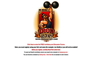 ironhistory.com screenshot