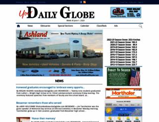 ironwooddailyglobe.com screenshot
