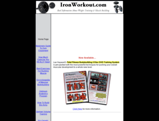 ironworkout.com screenshot