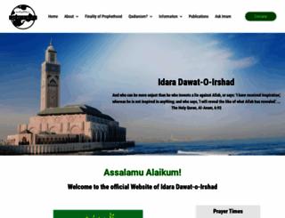 irshad.org screenshot