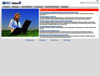 irsvideos.gov screenshot