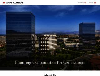 irvinecompany.com screenshot