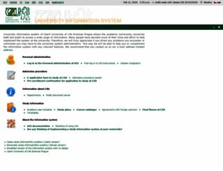 is.czu.cz screenshot