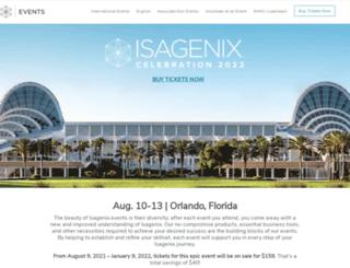 isagenixcelebration.com screenshot