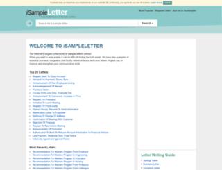 isampleletter.com screenshot
