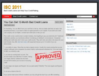 isc2011.in screenshot