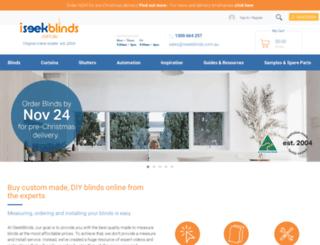 iseekblinds.com.au screenshot