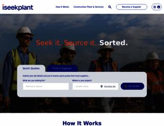 iseekplant.com.au screenshot