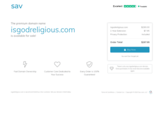 isgodreligious.com screenshot