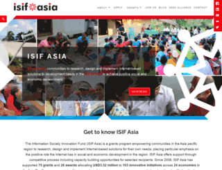 isif.asia screenshot