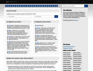 isimanlamlari.net screenshot