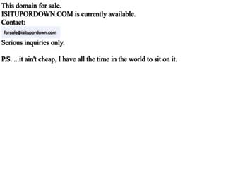 isitupordown.com screenshot