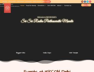 iskcondelhi.com screenshot
