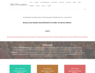 iskconleaders.com screenshot
