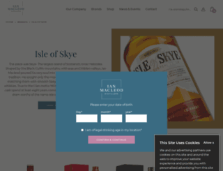 isleofskyewhisky.com screenshot