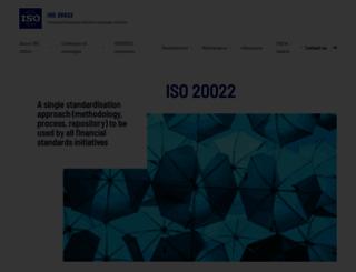 iso20022.org screenshot